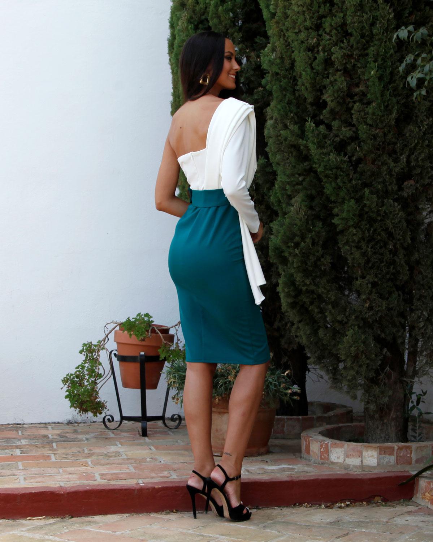 vestido de fiesta blusa blanca