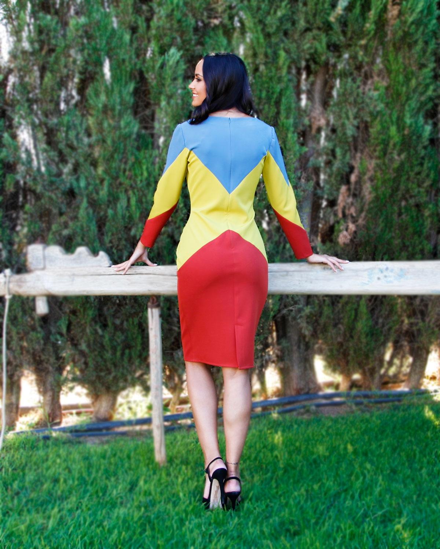 vestido-tricolor-falda-roja