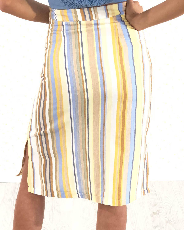 falda-rayas-azules-y-mostaza
