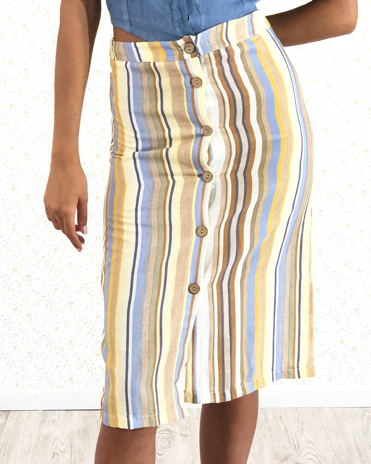 falda-rayas-mostaza