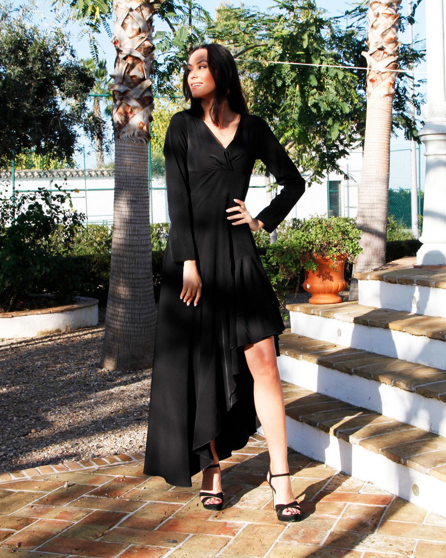 vestido perla negra