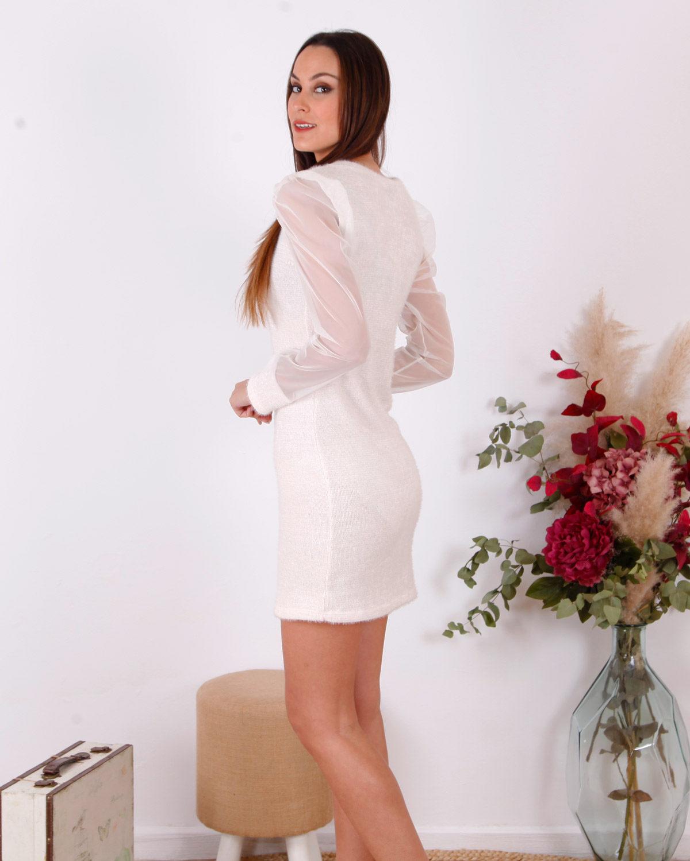 vestido-corto-blanco-manga-gasa