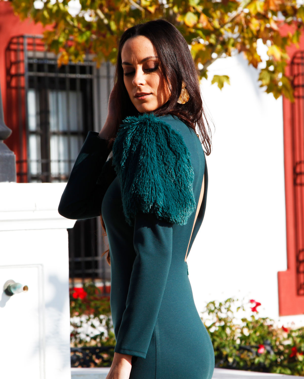 vestido-fiesta-verde-pelo