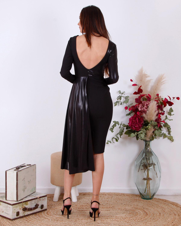 vestido-negro-doble-tejido