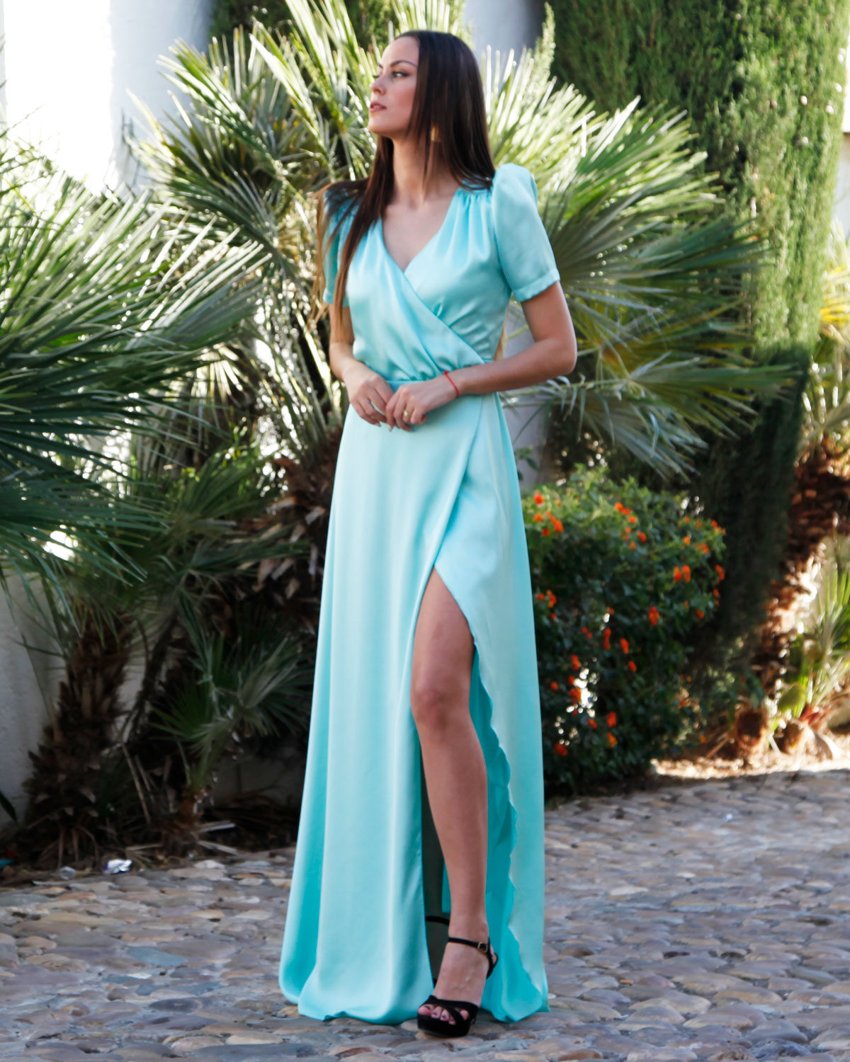 vestido-largo-saten-verde-mint