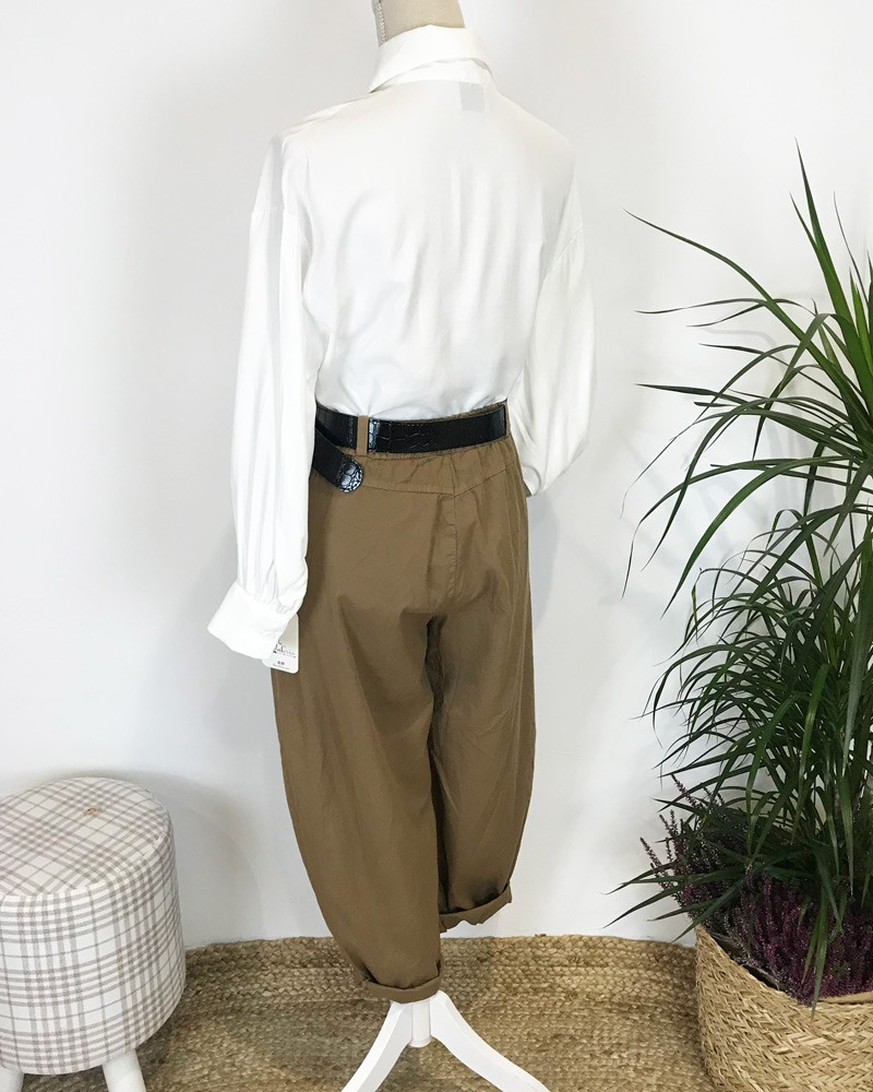 pantalon slouchy marron
